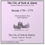 York & Ainsty Burials 1750 - 1779 CD